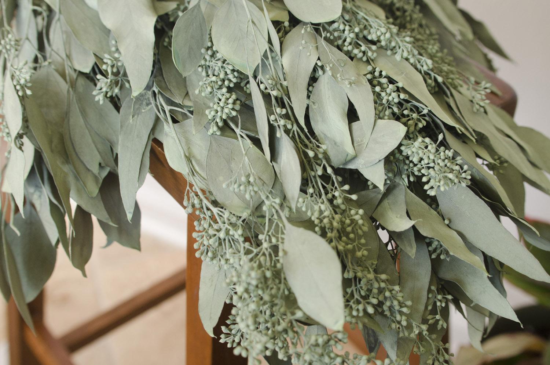 Preserved dark sage green seeded eucalyptus the blaithin for Dark sage green color