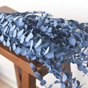 Preserved denim-blue eucalyptus