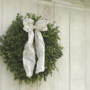 "16"" fresh boxwood wreath"