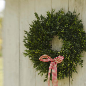 "20"" fresh boxwood wreath"